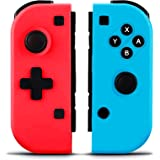 Elyco Wireless Controller for Nintendo Switch, Bluetooth Controller Gamepad Joypad Joystick for Nintendo Switch-Red(L)&Blue(R