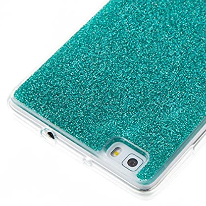 COZY HUT Luxury Bling Glitter Sparkle Case for Huawei P8 Lite Shockproof Case Shining Shock Absorption TPU Bumper Protective Phone Case Cover for Huawei P8 Lite - green 4