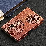 Holz Namenskartenhalter Haltbar, Massivholzstruktur - Einzigartiges modernes Design - Ideal für jeden Profi - Name, Kreditkarte und ID Wallet Case - Schöne Geschenkbox (Color : 7)