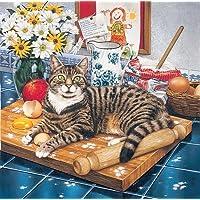 LRG. Wilberforce il gatto in cucina, Stampa da Geoff Tristram, Gatto Dimensioni immagine circa 30,5x 30,5cm circa