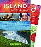 Bruckmann Reiseführer Island: Zeit für das Beste. Highlights, Geheimtipps, Wohlfühladressen. Inklusive Faltkarte zum Herausnehmen - Erik Van de Perre