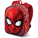 KARACTERMANIA Spiderman Spiderweb-3D Backpack (Small) Kinder-Rucksack, 31 cm, 8.5 liters, Rot (Red)
