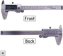 HITTIME Owner Electronic Digital Caliper, Stainless Steel Digital Caliper Measuring Tool 0-150mm Vernier Messschieber Paquimetro
