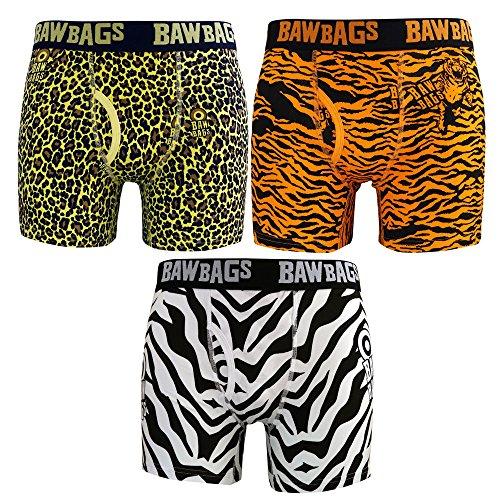 Bawbags Safari 3 Pack Mens Boxer Shorts - XXS / 22-24