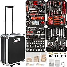 TecTake Juego de herramientas (616partes) Trolley Maleta aluminio colgador herramientas caja