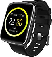 Willful Smartwatch con Pulsómetro,Impermeable IP68 Reloj Inteligente con Cronómetro, Monitor de...