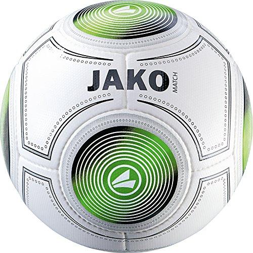 JAKO Trainingsball Match Ball, weiß/Schwarz/Grün, 4