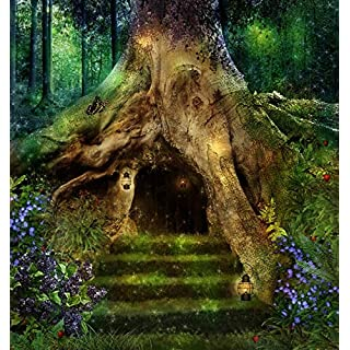 azutura Magical Tree House Wall Mural Fairytale Forest Photo Wallpaper Girls Home Decor available in 8 Sizes Large Digital