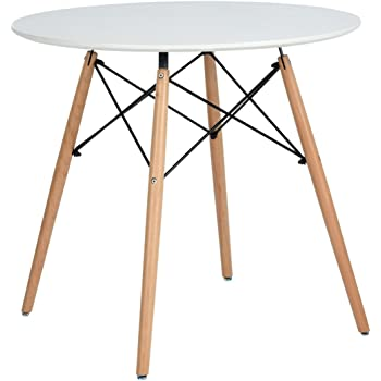 6c162f91de0c Dining Table Round Small Coffee Table Modern Leisure Wooden Tea Kitchen  Table Solid Pedestal Table Bar Table Cream White
