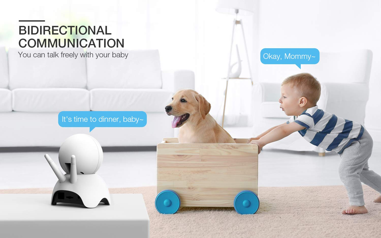Baby Monitor, BOIFUN Baby Video Camera with 5'' 1280x720P HD Screen 2000mAh Rechargeable Battery with VOX Night Vision Temperature Monitor Two-Way Talk 355 Degree Remote Control Camera Baby/Elder/Pet BOIFUN Sleep Mode & Night Vision----In Sleep mode, The screen on the mother unit is black. Screen will light up when baby starts crying. Night vision distance is 5 meters, so you will never miss any moment of your baby, and it frees yourself from the hustle and bustle. You will be able to have your own time to read, watch TV, or even enjoy a couple of drinks with your husband. Bring you lots of fun. 2000mAh Battery----2000mAh high-capacity battery (mother unit), lasts up to 6 hours with full functions, and 20 hours in sleep mode, from testing results. Let you have longer time get rid of the shackles of the wires. Bring you longer time of fun. 300Meters Extra-Large Range----300m signal coverage area (outdoor test) allows you to cook happily downstairs, enjoy the sun in the pool, or even have a relaxing BBQ time with friends in terrace. Bring you bigger fun. 5