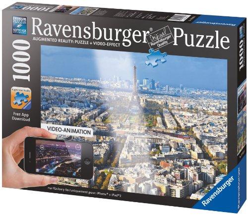 Preisvergleich Produktbild Ravensburger 19302 - Über den Dächern von Paris - 1000 Teile Augmented Reality Puzzle