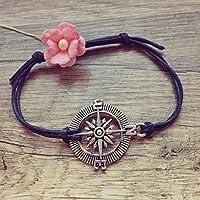 Kompass Armband in Dunkelblau Si