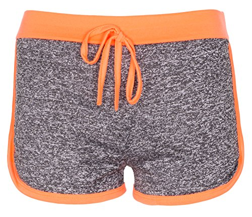 Noroze Femmes Gym Tache Hot Pants Dames Vêtements actifs Shorts Pantalon Court Corail