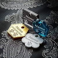 Pendentifs pour Colliers de Chien Chat Luxe Tag Disque Animaux Accessoires Collier Étiquette d'identification Médaille Gravure Personnalisé Porte-adresse pour Chiens Chats