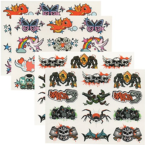 TE-Trend 48 Interaktive Tattoos Kinder Mädchen Jungen Körpertattoos Halloween Live App Magic ()