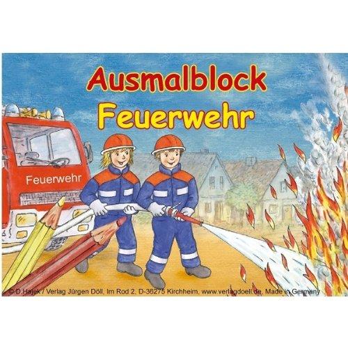 Malblock Feuerwehr, DIN A6, 12 Motive