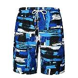 Hiroo Pantaloncini da Bagno Stampato Costume da Bagno Calzoncini da Spiaggia da Mare da Surfe Pantaloni da spiaggia Nuoto Spiaggia Mare Piscina Watershorts adulto (XX(AsianXXL=EUXL), Multicolore)