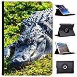 "coccodrilli & Alligatori Case Cover/portafoglio in similpelle per il Apple iPad nero Alligator liegt im Gras Apple iPad Pro 10.5"" (2017)"