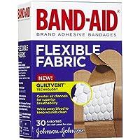 Preisvergleich für Band-Aid Flexible Stoff selbstklebend bandages-30ct, verschiedene Größen