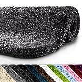 casa pura Tapis de bain grande taille Qualité Premium Oeko Tex | epais, moelleux, absorbant | lavable en machine | plusieurs tailles et couleurs | gris foncé - 60x100cm