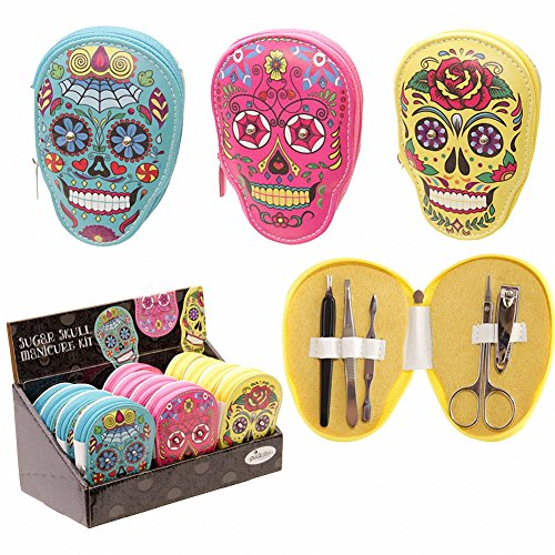Day Of The Dead Skull Manicure Set by Fingerprint Designs