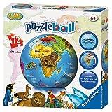 Ravensburger 121267 - Illustrierter Weltglobus auf Englisch Puzzle-Ball