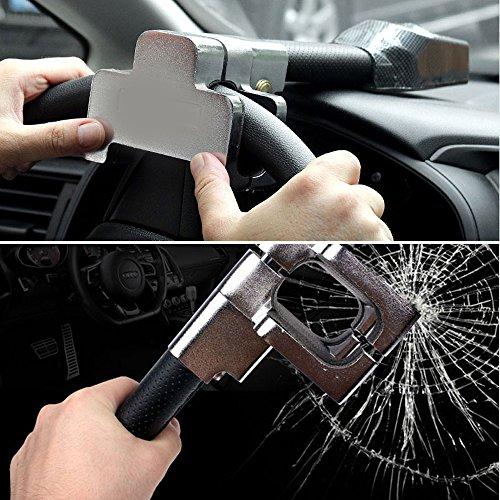 Lenkradschloss Universal Sicherheit Auto Anti Diebstahl Sicherheits Alarm Verschluss Einziehbare Anti-Diebstahl Schutz T-Lock