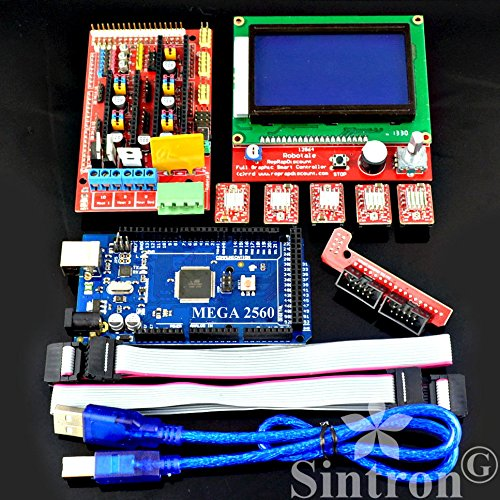 Sintron-3D-Printer-Controller-Kit-RAMPS-14-Mega-2560-R3-5pcs-A4988-Stepper-Motor-Driver-with-Heatsink-LCD-12864-Graphic-Smart-Display-Controller-with-Adapter-For-Arduino-RepRap