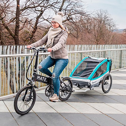 QERIDOO Fahrradanhänger Sportrex1 Design 2018 blau OneSize - 6