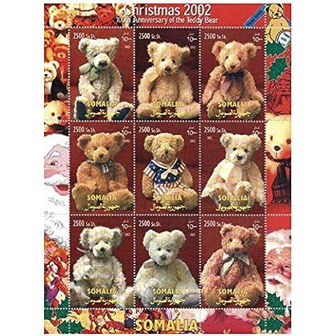 Sellos del oso de peluche para coleccionistas - Ositos de peluche de Navidad 2002-9 Sellos para la recogida - Desmontado y desquiciado