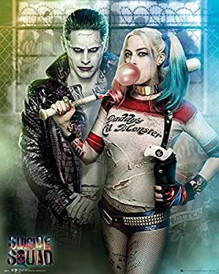 Posters: Suicide Squad Mini Poster - Joker And Harley Quinn (50 x 40 cm)