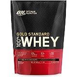 Optimum Nutrition Gold Standard 100% Whey Proteine in Polvere con Proteine Isolate, Aminoacidi e Glutammina per la Massa Musc