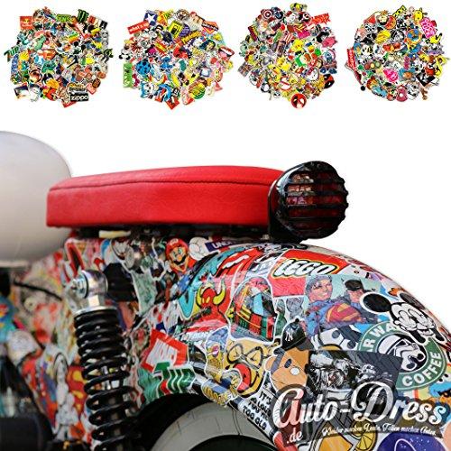 100 Aufkleber / Sticker - Retro-, Graffiti- Style, Reisen, Marken für Skateboard, Snowboard, Koffer, Notebook, Auto, Fahrrad & uvm. - Auto-Dress® (Set 1-7)