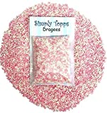 Pink & White Mini Sugar Balls 30g (approx 1mm diameter) for cake or cupcake decorations