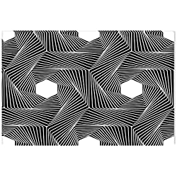 Startonight Cuadro sobre Lienzo en Blanco y Negro Cadena Geométrica, Impresion en Calidad Fotografica Enmarcado y Listo Para Colgar Diseño Moderno Decoración Formato Grande 60 x 90 CM