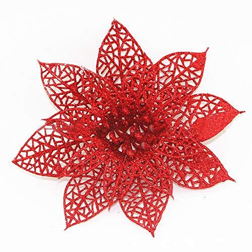 (Mitlfuny Weihnachten Home TüR Dekoration 2019,10 Teile/Satz Weihnachten Blumen BäUme Weihnachtsdekor Glitter Mi Geburtstag Party 8 cm)