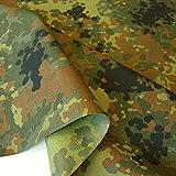 5 Farben Bundeswehr Segeltuch / Planen-Stoff Tarndruck Flecktarn Camouflage - wasserdicht und reißfest
