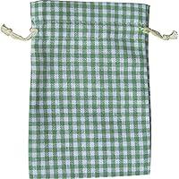24 sacos de lana, 20 x 12 cm, diseño a cuadros, color verde