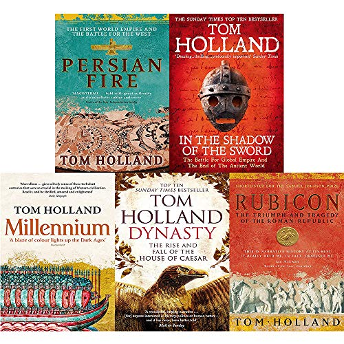 Price comparison product image Tom holland 5 books collection set (rubicon, dynasty, millennium, persian fire, in the shadow of the sword)