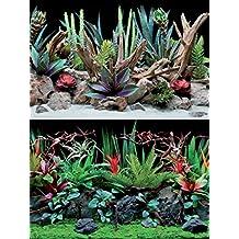 ... para todos los acuarios o borne. Amtra A8011578 Fondo Doble Flora Blister, 30 x 60 cm