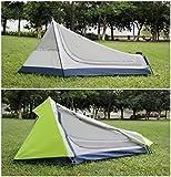 GEERTOP Bivvy Biwaksack Trekkingzelt Campingzelt Zelt Minipack Leicht – 213 x 101 x 91 cm H (1,9kg) -1 Person 3 Jahreszeiten für Outdoor-Camping Wandern Reisen und Klettern (grau) - 3