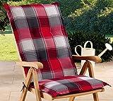 Schwar Textilien Gartenstuhlauflagen Sitzauflagen Auflage für Hochlehner Rot Grau UVP 19,95
