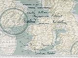 Zanderino ab 1m: Dekostoff, Weltkarte mit Schrift,