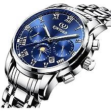 Sharplace Pulsera Reloj para Hombre Impermeable Automático Regalo de Negocio - Azul