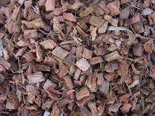 Mulch Chips aus 100 {e491e58f0e8373a739c915592c17adc0d4de93768fcec2c71e0fda9405a89f44} Kokos, grob, 50 Liter, (EUR 0,52/Liter), Kokoschips, Einstreu geeignet als Unkrautschutz, Winterschutz, Pflanzenschutz, Schneckenschutz und Düngemittel, 100{e491e58f0e8373a739c915592c17adc0d4de93768fcec2c71e0fda9405a89f44} biologisch abbaubar