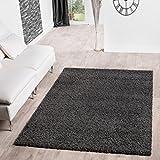 Shaggy Teppich Hochflor Langflor Teppiche Wohnzimmer Preishammer versch. Farben, Größe:60x100 cm, Farbe:anthrazit