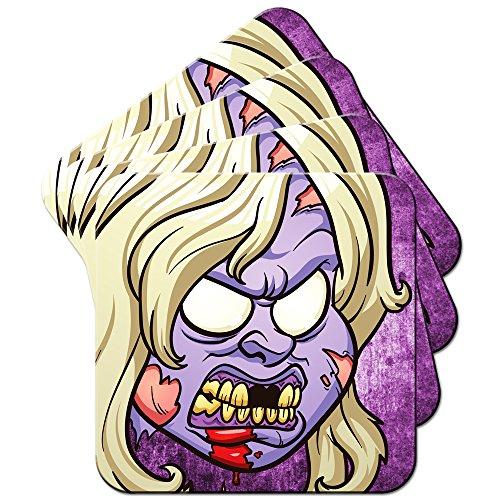iver Zombie Violett Set aus 4 Untersetzern ()