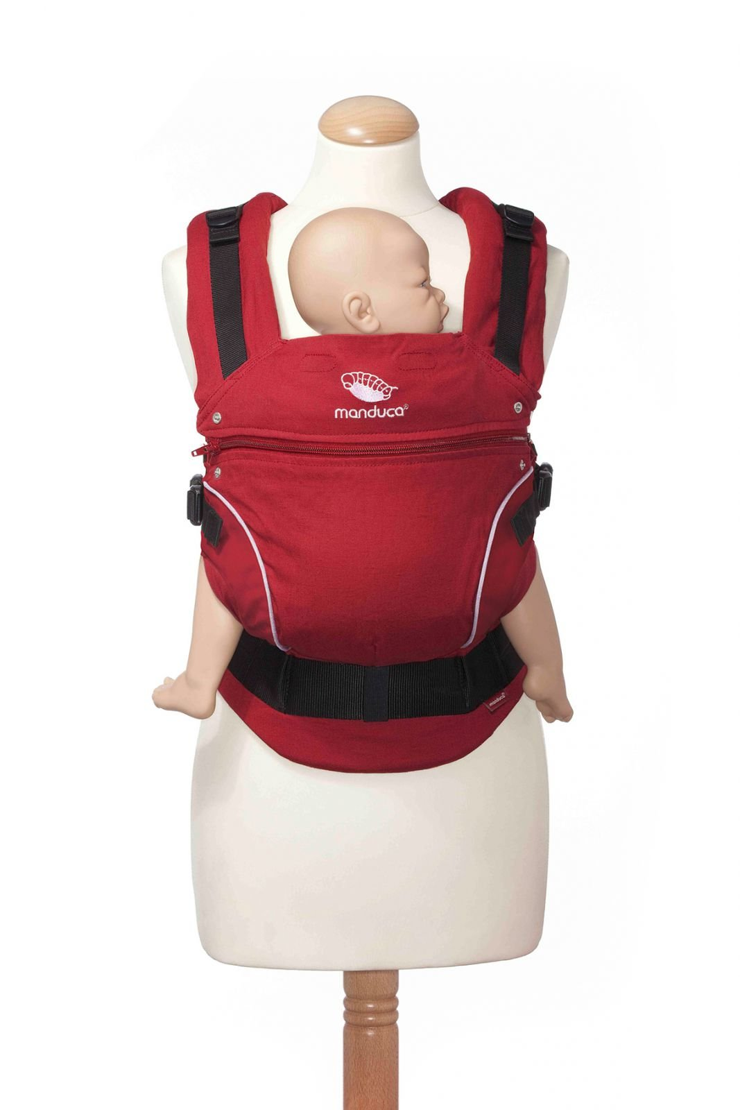 Manduca 3-in-1 Pure Cotton Baby Carrier (Chili Red) Manduca 3-in-1 soft structured baby carrier that supports baby in the healthiest position Made from 100% organic cotton Suitable from newborn to pre-schooler taking a weight of 45lbs. 7