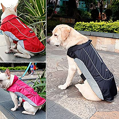Akemiao Dog Coat Winter Warm Jacket Pet Clothes with Harness Hole Suit for Small Medium Breed Dogs 3