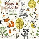 Happy und Colourful 2018 - Broschürenkalender, Illustrationen, Wandkalender - 30 x 30 cm